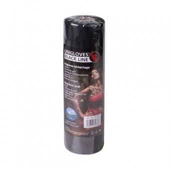 UNIGLOVES Hygieneunterlage Rolle zu 50m/100Stück 50x30cm - wasserdicht - schwarz
