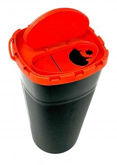 Tattoo Abwurfbehälter 3l für unsteriles Gut mit Sicherheitsverschluss - Kanülenabwurfbehälter
