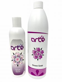 ARTÉ SET GEL und Grüne Seife - Abzugsflüssigkeit Green Soap