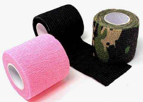 Grip Bandage INKgrafiX® - für besten Halt - Griffstück - PINK Military Black Grün Violett