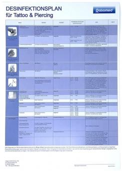 Desinfektionsplan für Tattoo und Piercing - Ratiomed A3
