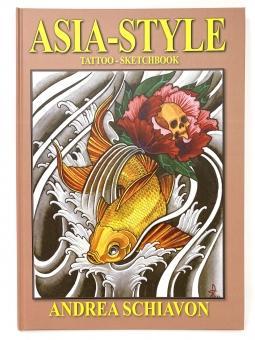 Tattoo Buch ASIA-STYLE Premium Sketchbook - 74 Seiten - Hardcover