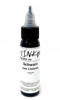 ANGEBOT: INKgrafiX® SCHWARZ ZUM LINIEREN - Deutsche Tattoofarbe - 30ml Linien Schwarz - Made in Germany