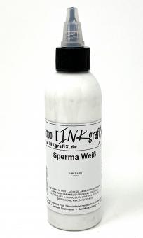 INKgrafiX® SPERMA WEIß - Deutsche Tattoofarbe - 100ml Weiß - Made in Germany