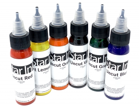 STAR INK Farbset 5 - UNCUT COLORS - Originalfarben - 6x30ml - Made in Germany