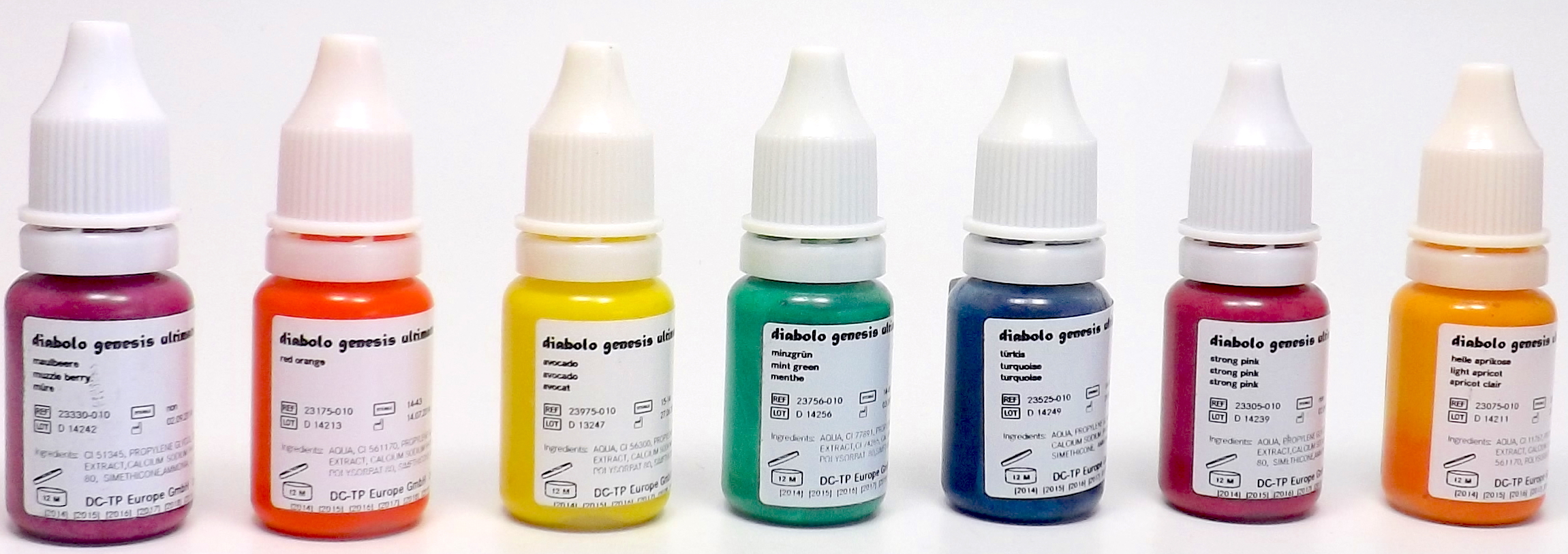 Farben Online Shop.Farbset 07 Diabolo 7x10ml Farben Bunte Farben